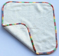 100% Baby Bamboo Wipes, Reusable Baby Wipe Andcolorful edge bamboo cloth wipe