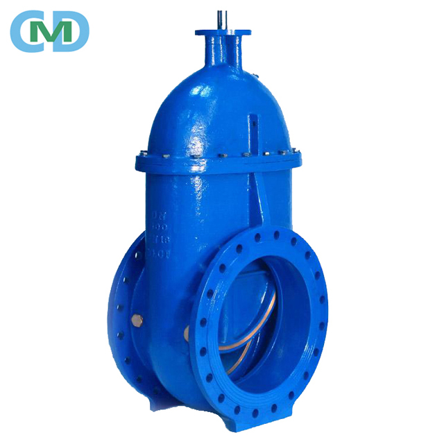 DIN Non Rising Stem Cast Ductile Iron Brass Bronze Metal Seat Gate Valve