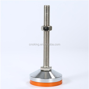 Yellow color M10 adjustable table leg screw