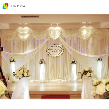 Wedding Stage Backdrop Decoration Graceful Curtain And Drape For Design