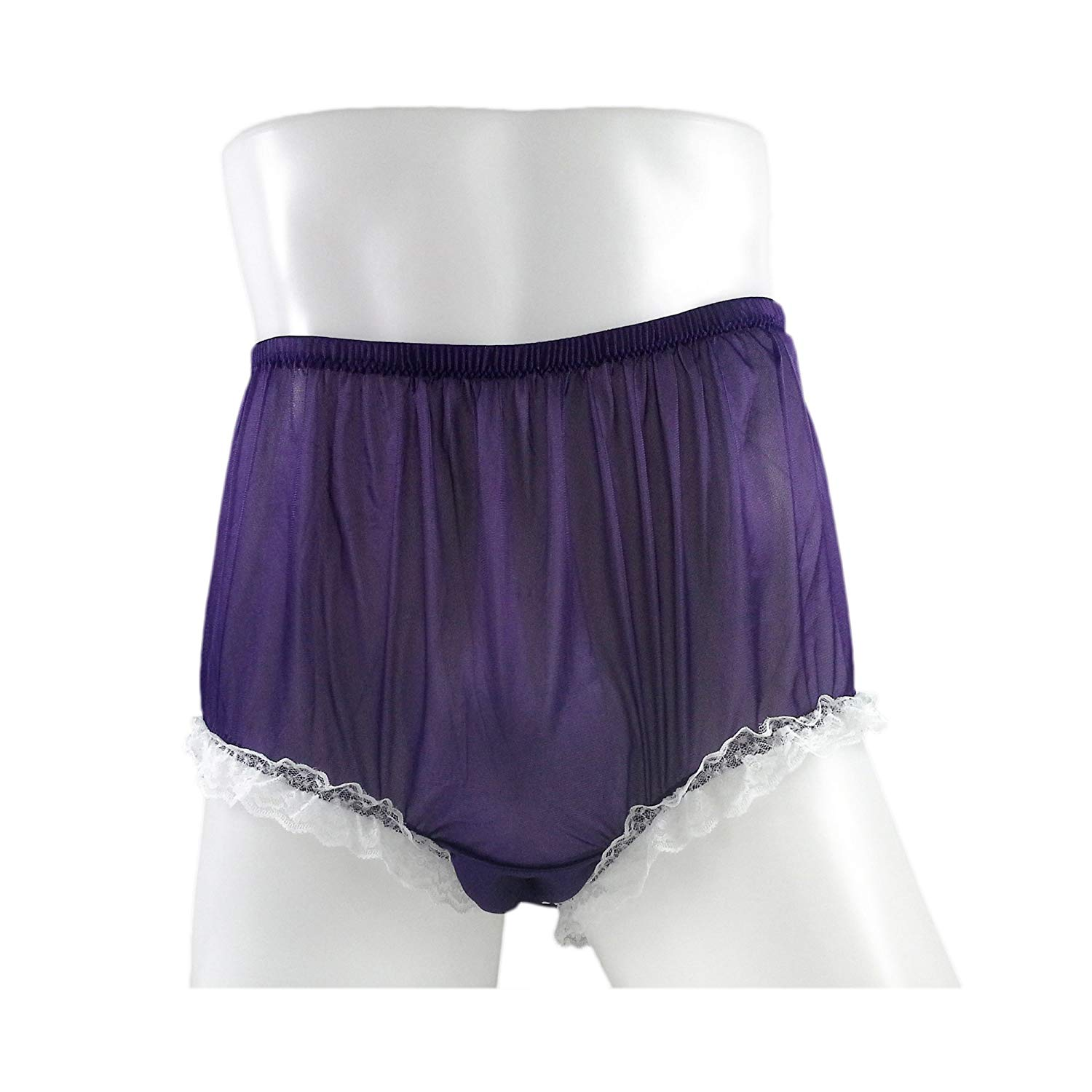 2fd46c1664 Get Quotations · NH02D05 Deep Purple Handmade Panties for Women Plus Size  Briefs Panty Nylon Underwear Hipster Undies Ladies