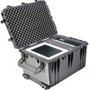 """Pelican 1660 Shipping Box With Foam . Internal Dimensions: 28.20"""" Length X 19.66"""" Width X 17.63"""" Depth . External Dimensions: 31.6"""" Length X 23"""" Width X 19.5"""" Depth . Copolymer . Black . Military """"Product Type: Supplies/Shipping & Storage Boxes/Tanks"""""""