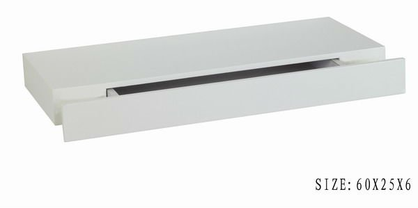 Wall Floating Shelf With Drawer View