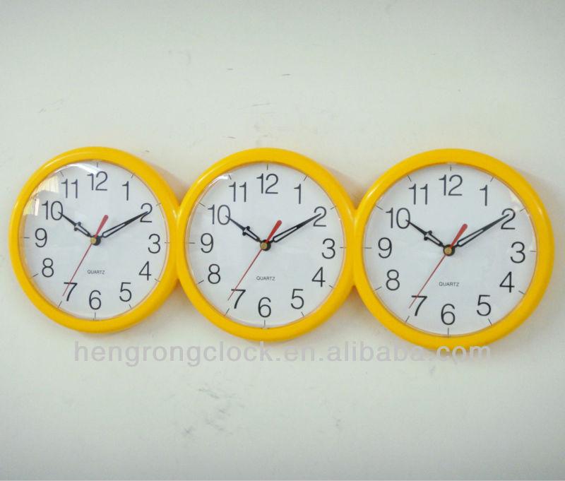 Pared Del Reloj Tiempo Buy De Veces Pared Relojes Diferentes reloj 3 Zona Mundo Zonas RLqA345j