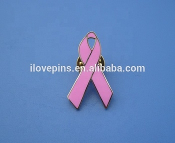 Venda quente Rosa Breast Cancer Awareness Ribbon Pin