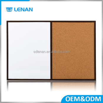 Single Whiteboard With Wooden Frame / White Cork Board - Buy White ...