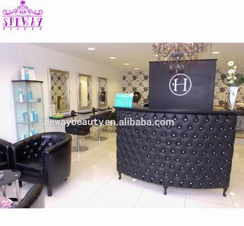2019 Modern Curve Front Counter Reception Desk For Beauty Hair Salon