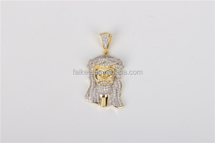 Micro set 10 K Gold piece men hip hop jewelry iced out pendant