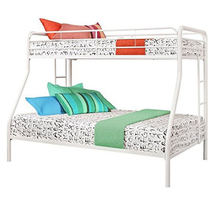 Home furniture bedroom used KD powder coating heavy duty twin full bunk metal bed