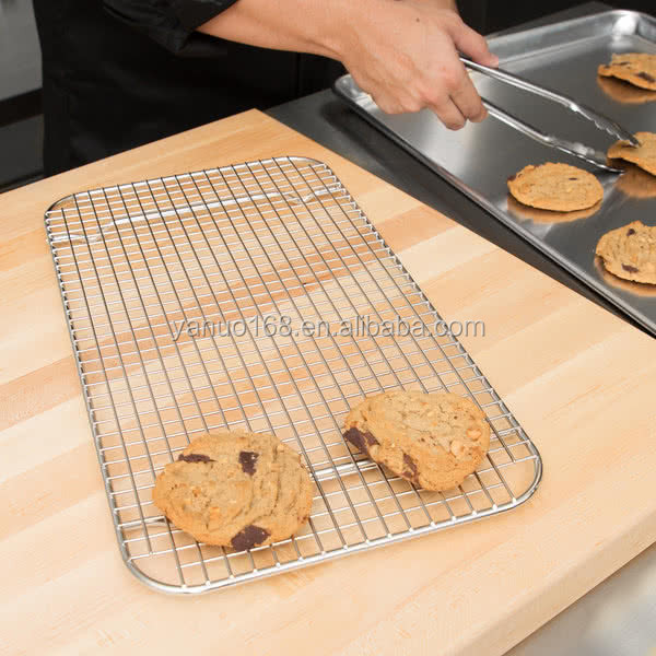Full Size Stainless Steel Wire Cooling Rack / Pan Grate for Steam Table Pan