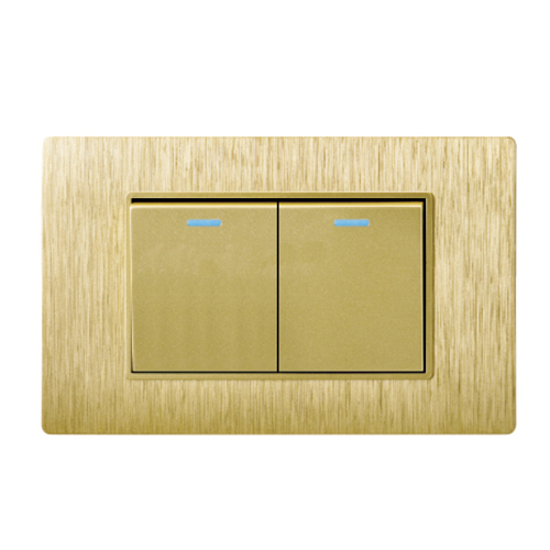 Simple Style 2 Gang Two Way Push Button Wall Switch