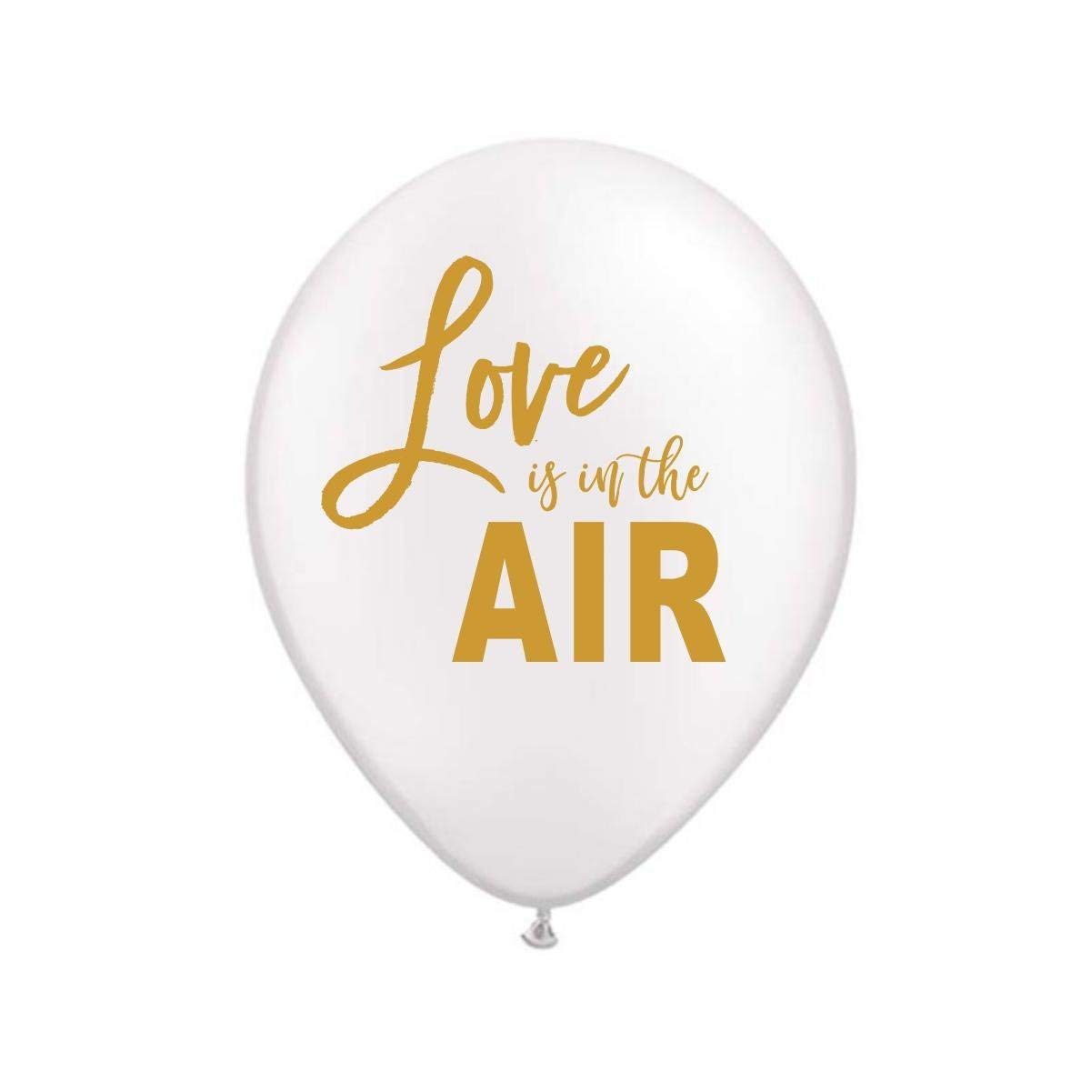 White Love is in the Air Balloons, Love is in the Air Balloons, Love is in the Air, Engagement Party Decoration, Bridal Shower Decoration, Valentine's Day Balloons, (Set of 3)