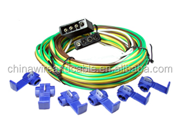J100393 4-way 20ft Wishbone Trailer Wiring Harness Kit,One With Male on