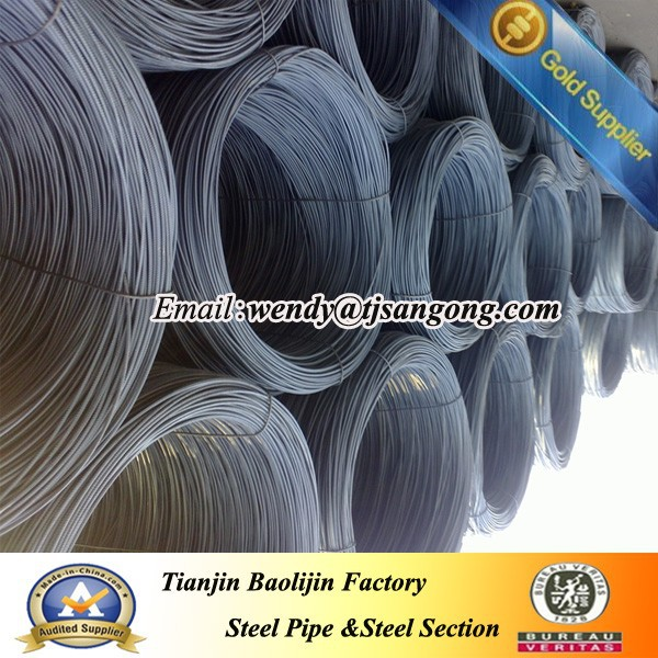 zinc steel wire rod coilhot roll plain bars/wire rods/hpb300 wire coil