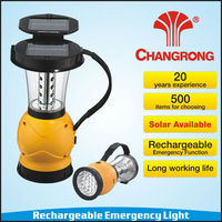 portable rechargeable emergency battery operated solar light