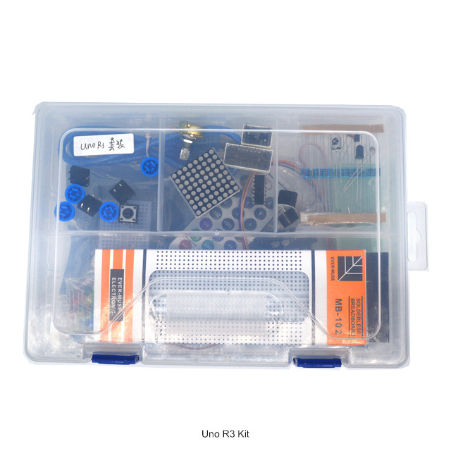 Trustful 1 Set Starter Kit Basic Learning Suite For Uno R3 Kit Upgraded Stepper Motor Led Jumper Wire Kits For With Retail Box To Assure Years Of Trouble-Free Service Computer & Office