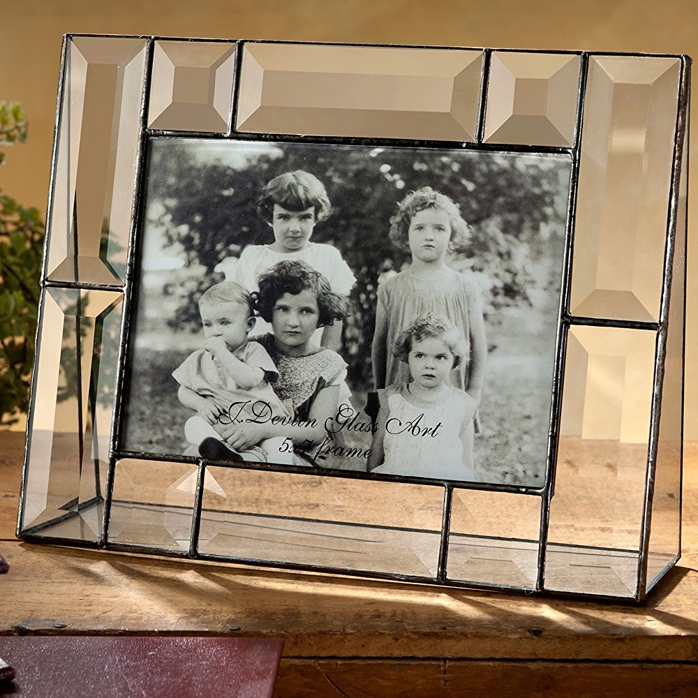J Devlin Pic 112-57H 5x7 Crystal Glass Picture Frame Beveled Glass Horizontal Photo