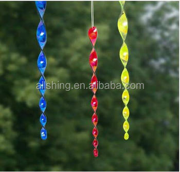Wholesale Garden Wind Twister Charm Hanging Spinning Spiral Effect Decor  Spinner Colourful -scare And Frighten Birds  - Buy Bird Scare  Rods,Reflective