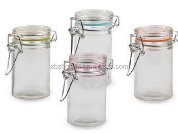 wholesale glass mini spice jar with metal lock lid buy glassware glass bottle glass storage. Black Bedroom Furniture Sets. Home Design Ideas