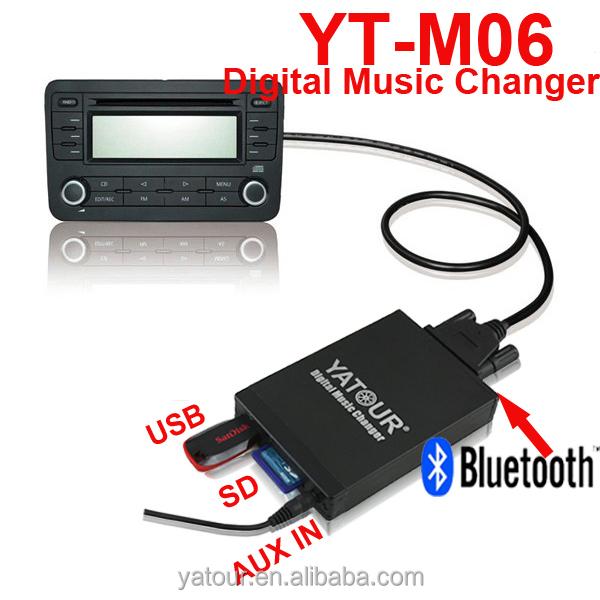 SD AUX Bluetooth kit manos libres para Toyota TOY1 MP3 Yatour YTM06-TOY1-BT Adaptador de musica digital para coche USB