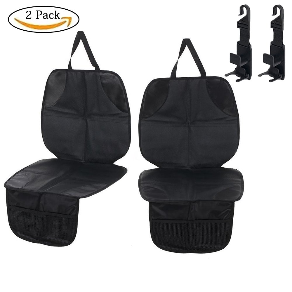 Car Seat Protector,Drive Auto Products,Waterproof Seat Protector with Padding for Child & Baby Cars Seats, Dog Mat -Cover Pad Protects Automotive Vehicle Upholstery and Make Your Life Easier (2pack)
