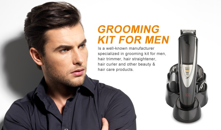 2017 promotional trending products electric multifunctional rechargeable men grooming kit beard. Black Bedroom Furniture Sets. Home Design Ideas