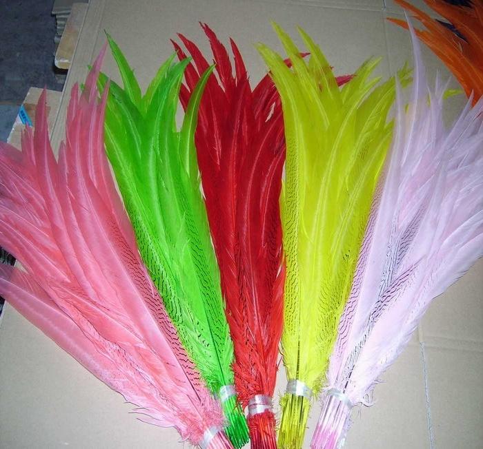 22-24 Inci (55-60 Cm) Dicelup Perak Bulu Burung untuk Dijual