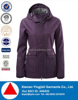 Womens Fashionable Tpu Membrane Rain Jacket In Purple Rain Coats ...