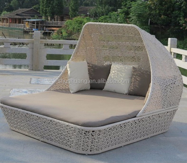 Rattan Furniture Patio Wicker Sunbed