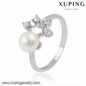 13750 xuping jewelry rhodium color cute children pearl finger ring