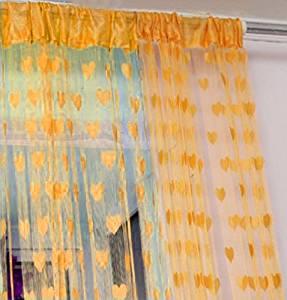 TOOGOO(R) Door Window Wall Panel Curtain Room Divider String Fringe Tassel Strip Orange