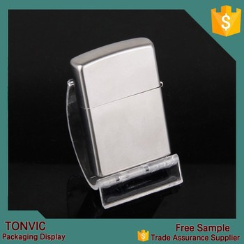 Factory For Zippo Lighter Clear Acrylic Display Rack Stand Holder ...