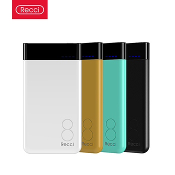 Recci Eight Series 8000mAh USB Port Ultra Slim Power Bank Battery Pack