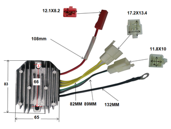 regulator 7 wire for bajaj 175cc