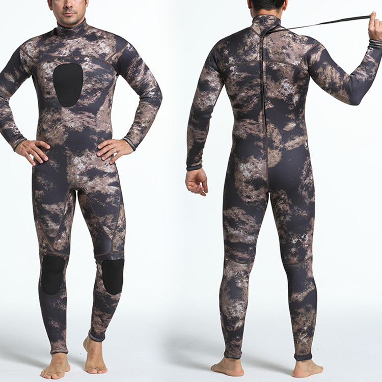 Full Wetsuit 3 mm Professional neoprene mens spearfishing winter dive suit for swimming windsurfing