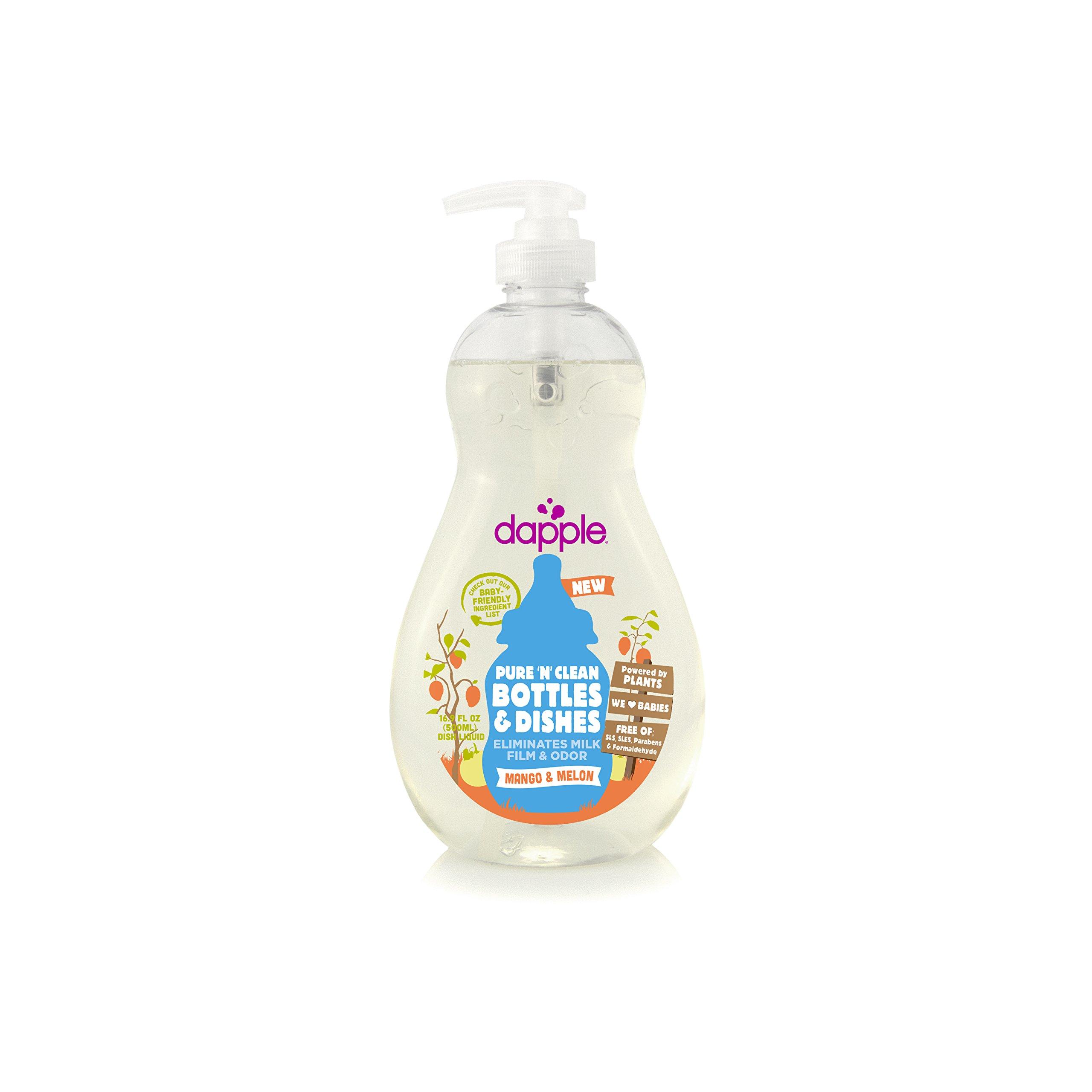 Dapple Baby Bottle & Dish Liquid, Mango/Melon, 16.9 Ounce
