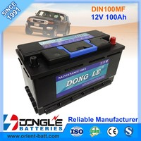 Europe Type DIN100 MF Auto Rechargeable Battery 100Ah 12V