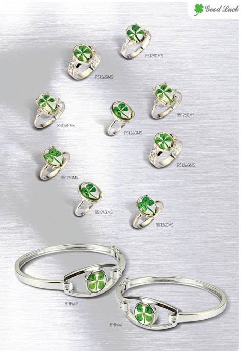 cz love rings of sterling aaa item four engagement petals women for silver clover leaf