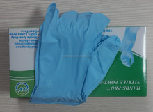 FDA Grade Blue Disposable Nitrile Gloves