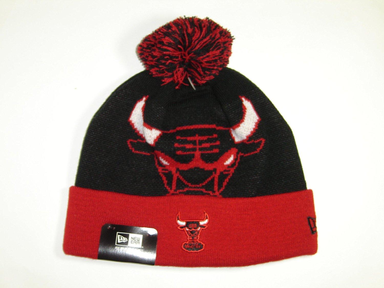 1770e5ef189 Buy New Era NBA Chicago Bulls 2 Tone Cuffed Knit Beanie Cap with Pom ...