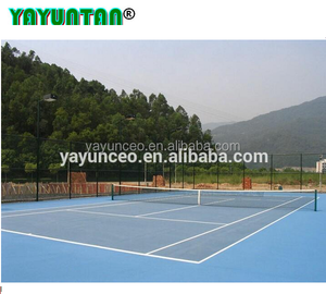 all weather use anti UV acrylic rubber sport court floor surface
