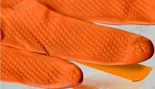 Disposable nitrile thicken fivefingers plastic gloves for industrial use