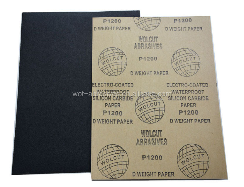 9 Inch x11 Inch Silicon Carbide Abrasive Paper Waterproof Abrasive Sandpaper