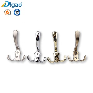 Chrome plated zinc alloy metal wall mounted clothes coat hat hanger hook rack