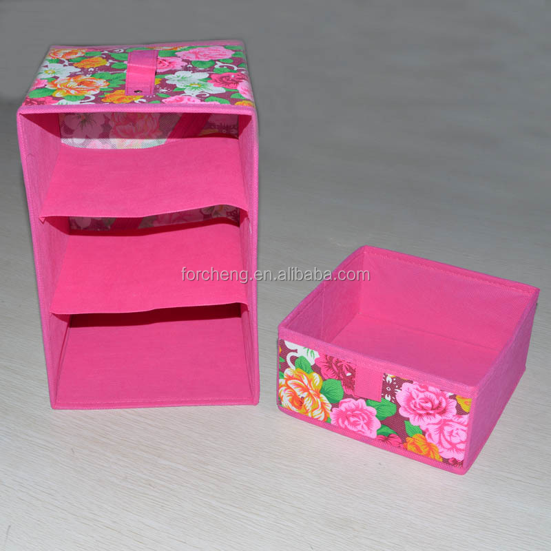 wholesale home fabic Foldable polyester organizer box