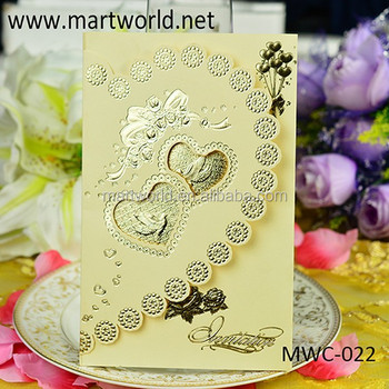 2019 Wholesale Handmade 3d Royal Invitation Card For Engagement And