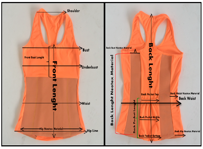 Accepted OEM Design Neoprene Weight Loss Slimming Vest