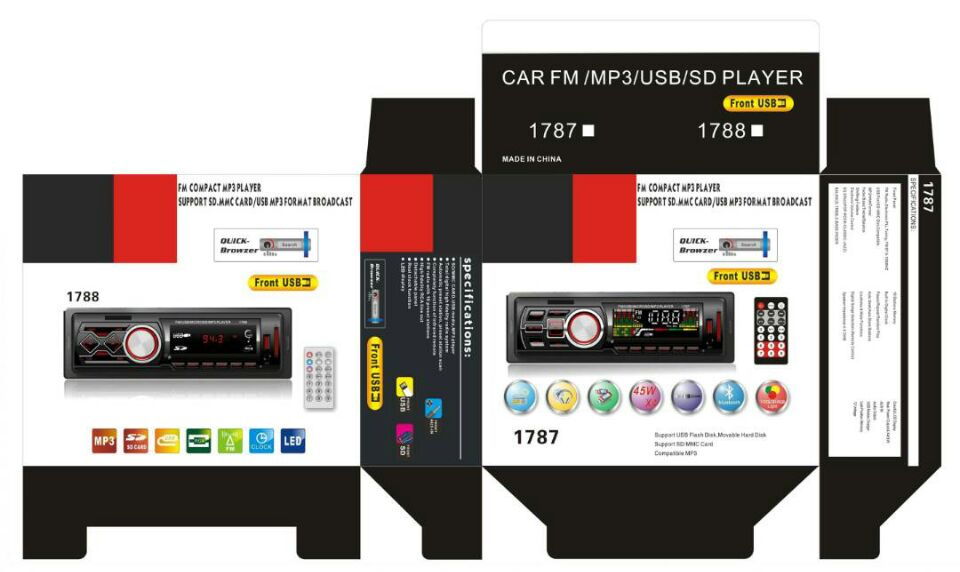 PIONEER CAR AUDIO CON USB SD AUX CAR STEREO MP3 PLAYER CON PANNELLO LCD A LED del PANNELLO CON BLUETOOTH OPZIONI di AUTO STEREO