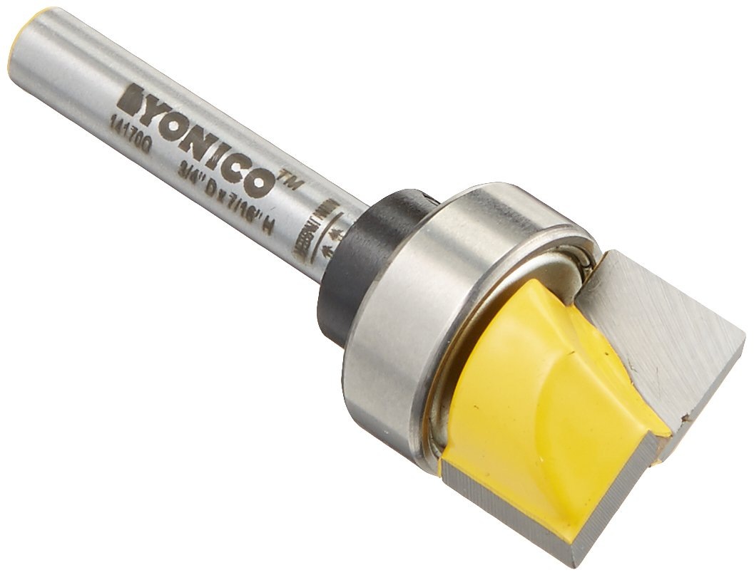 Yonico 14170q Hinge Mortise/Template Router Bit with 3/4-Inch X 7/16-Inch 1/4-Inch Shank