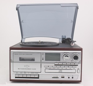 lp usb turntable cd record cassette radio player with diamond stylus